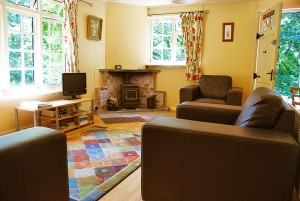 INterior lounge of the Lakeside Holiday Cottage