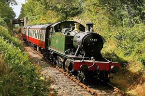 Steam Train Ride at Bodmin Wenford Railway, Cornwall
